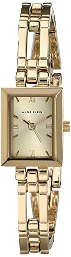 Anne Klein Womens 104898CHGB Rectangular Watch