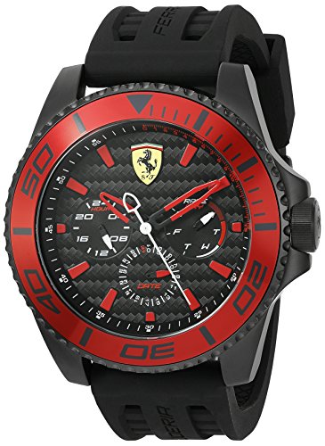 Ferrari Watch Mens Lap Time Black And Red Watch Deallagoon