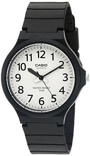 Casio Men's 'Easy To Read' Quartz Black Casual Wa...