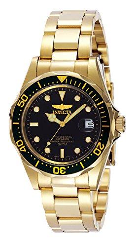 Invicta Men's 'Pro Diver' Quartz 23k-Yellow-Gold-...