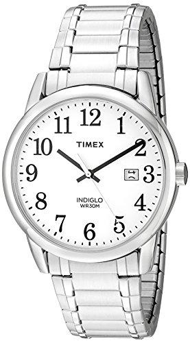 Timex Men's TW2P81300 Easy Reader Silver-Tone Sta...