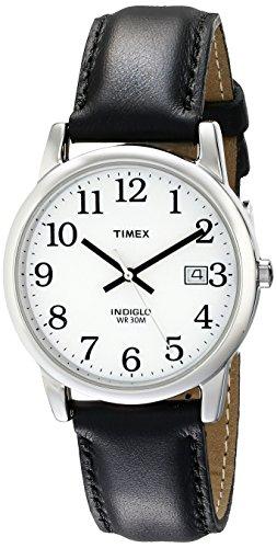 Timex Men's T2H281 Easy Reader Black Leather Stra