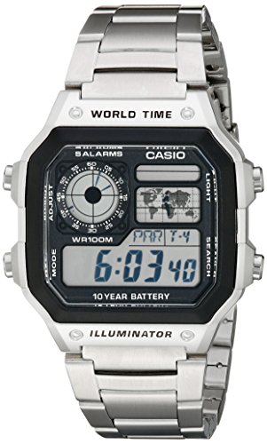 Casio Men's AE1200WHD-1A Stainless Steel Digital ...