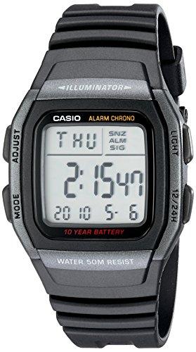 Casio Men's W96H-1BV Classic Sport Digital Black ...