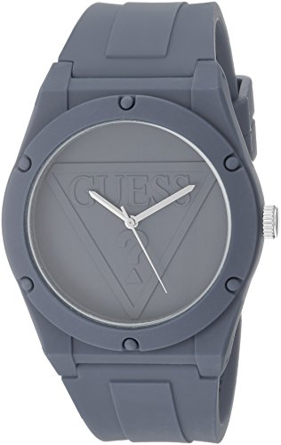 GUESS Quartz Rubber and Silicone Casual Watch, Co...