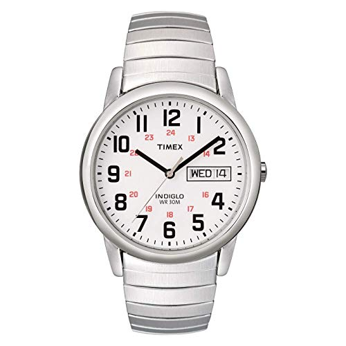 Timex Men's T20461 Easy Reader Silver-Tone Stainl...