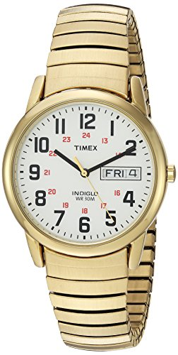Timex Men's T2N092 Easy Reader Gold-Tone Extra-Lo...