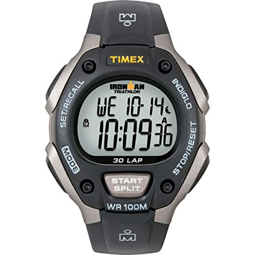 Timex Men's T5E901 Ironman Classic 30 Gray/Black ...