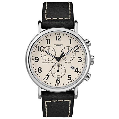 Timex Men's TW2R42800 Weekender Chrono Black/Crea...