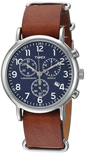 Timex Unisex TW2R63200 Weekender Chrono Brown Dou...