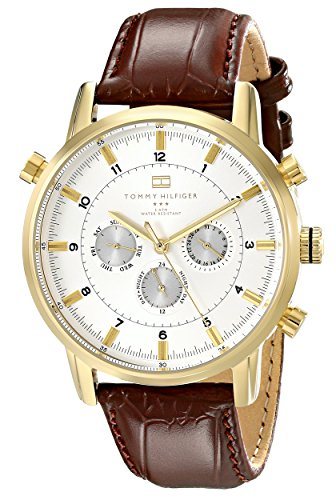 Tommy Hilfiger Men's 1790874 Gold-Tone Watch with...