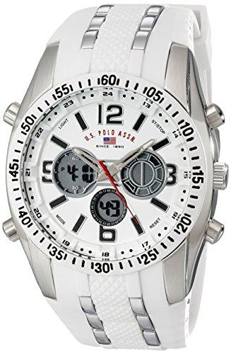 U.S. Polo Assn. Sport Men's US9282 Silver-Tone Wa...