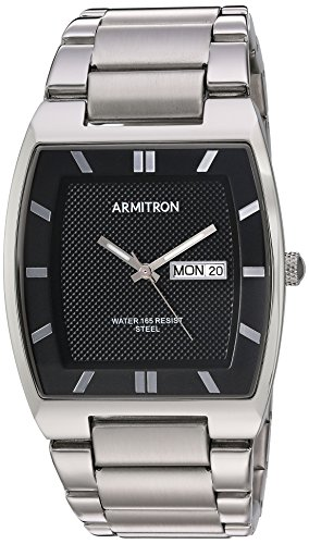 Armitron Men's 20/5211BKSV Day/Date Function Silv...