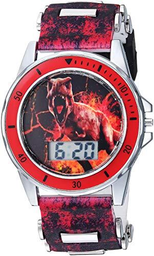 Disney Quartz Watch with Plastic Strap, Black, 20...