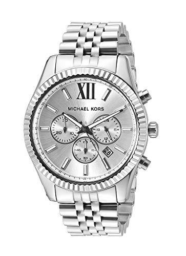 Michael Kors Men's Lexington Silver-Tone Watch MK...