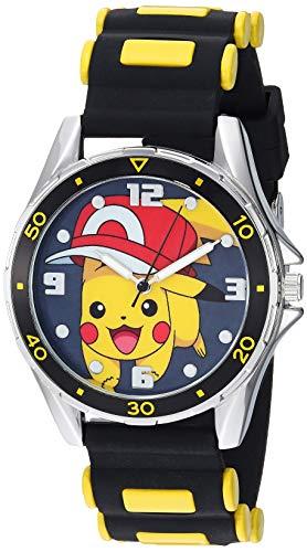 Pokemon Silver Tone Metal Analog-Quartz Watch wit...