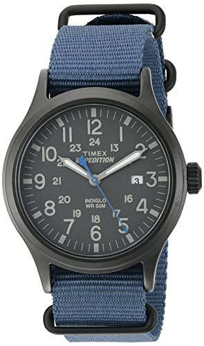 Timex Men's TW4B04800 Expedition Scout Blue Nylon...