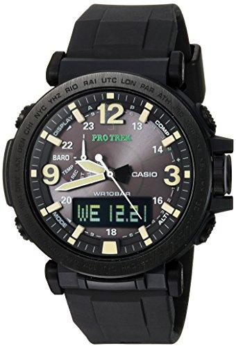 Casio Men's Pro Trek Quartz Watch with Silicone S...