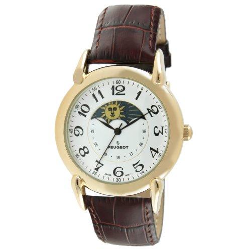 Peugeot Men's 14k Gold Plated Dress Watch - Vinta...