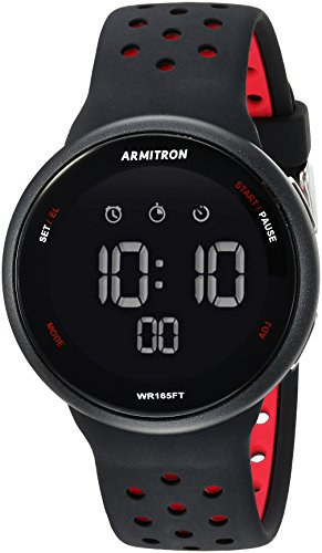 Armitron Sport Unisex 40/8423BRD Red Accented Dig...