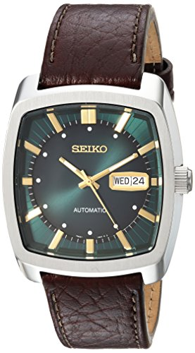 Seiko Men's Recraft Series Automatic Leather Casu...