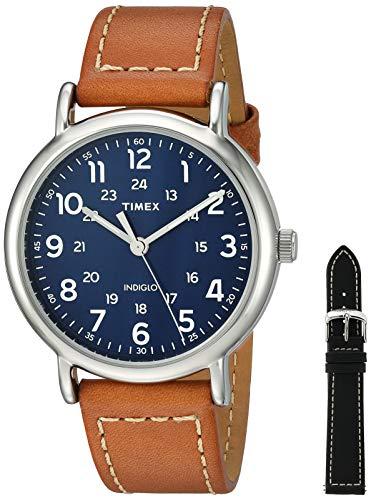 Timex Men's TWG019200 Weekender 40mm Tan/Blue Two...