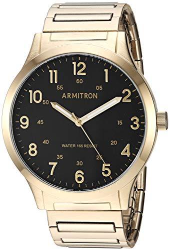 Armitron Men's 20/5310BKGP Easy-Read Expansion Ba...