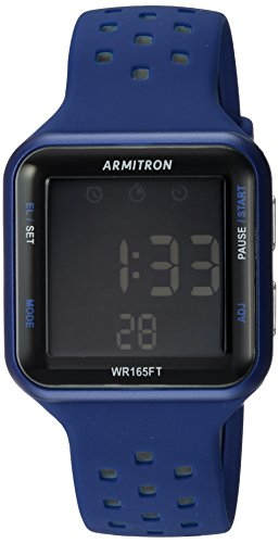 Armitron Sport Unisex 40/8417BLU Grey Accented Di...