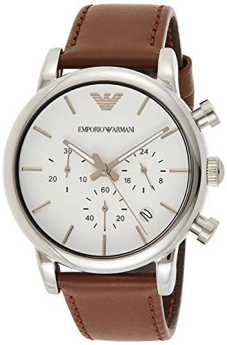 Emporio Armani Men's AR1846 Dress Brown Leather W...