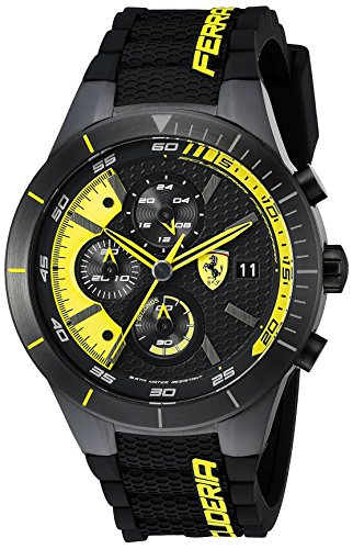 Ferrari Men's 0830261 REDREV EVO Analog Display J...