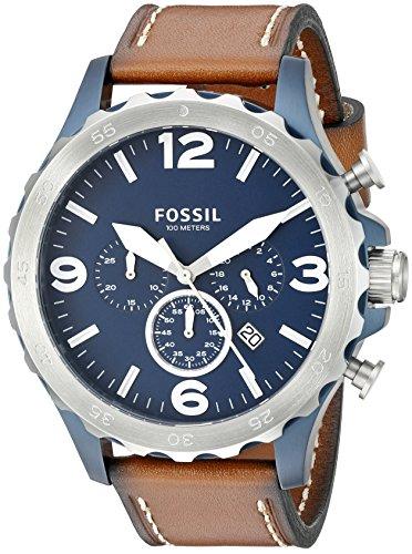 Fossil Men's Nate Quartz Leather Chronograph Watc...