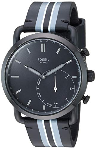 Fossil Men's Stainless Steel Hybrid Watch with Le...