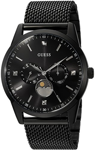 GUESS Black Ionic Plated Mesh Bracelet Watch with...