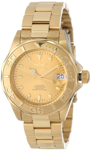 "Invicta Men's 13929 ""Pro-Diver"" 18k Gold Ion-Plat..."