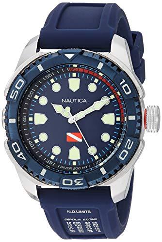 Nautica Men's NAPTDS902 Tarpoon Dive Blue/Silver ...