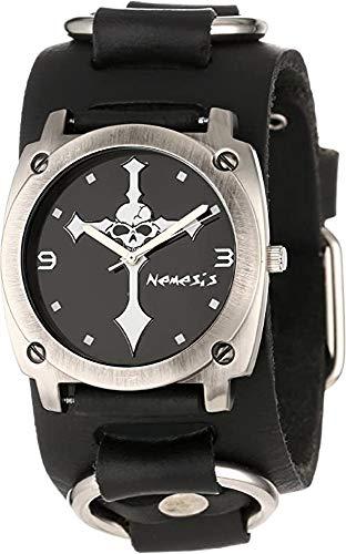 Nemesis RB927K Men's Skull Crucifixion Black Wide...