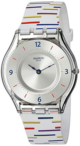 Swatch Archi-Mix Quartz Silicone Strap, White, 16...