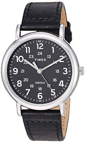 Timex Men's TW2T30700 Weekender 40mm Black/Silver...