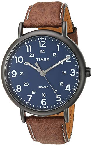 Timex Men's TW2T73200 Weekender 43mm Brown/Blue T...