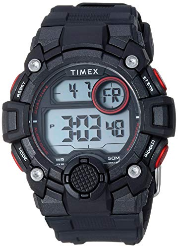 Timex Men's TW5M27600 DGTL A-Game 50mm Black/Red ...