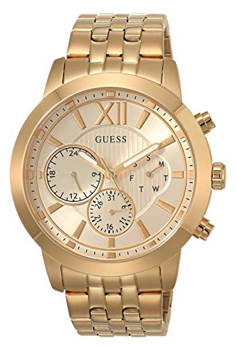 GUESS Men's Analog Watch with Stainless Steel Str...