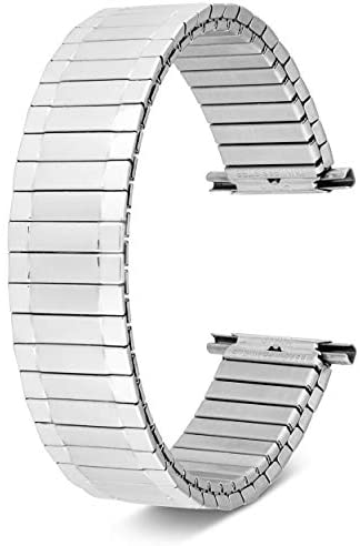 Men's Stainless Steel Stretch Watch Band, Flex Ra...