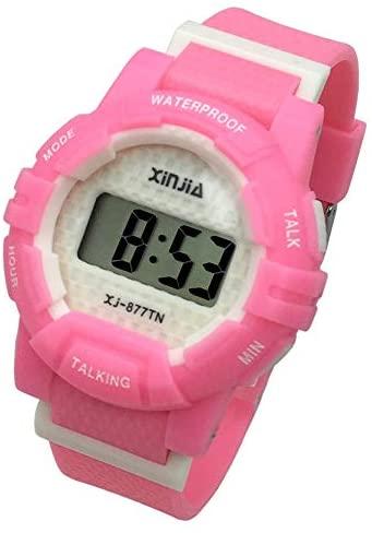 English Talking Wrist Watch Electronic Sports Wat...
