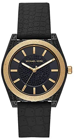 Michael Kors MK6703 Black Steel 316 L Analog Quar...