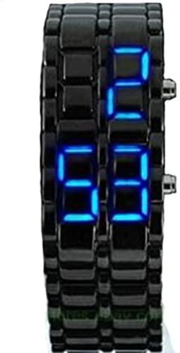 DHnewsun Metallic Black Lava Faceless Blue LED Vo...