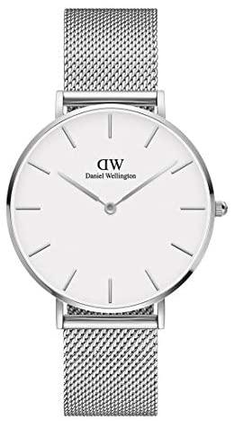 Daniel Wellington Petite Sterling Watch, Silver M...