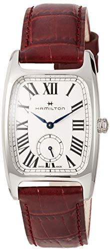 Hamilton Boulton L Silver-White Dial Ladies Red L...