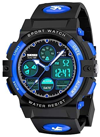 Kids Digital Sport Watch, Boys Girls Waterproof S...