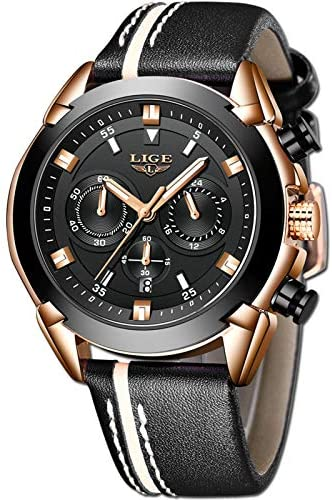 LIGE Watches for Men Sports Chronograph Waterproo...