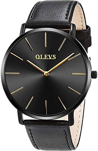 OLEVS Men's Minimalist Ultra Thin Watches Big Fac...
